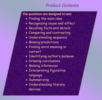 The Outsiders Reading Comprehension Free Sample Reg/Modified