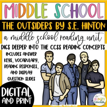 The Outsiders Reading Unit Novel Study 7th And 8th Grade Reading Unit
