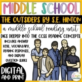 The Outsiders | Novel Study Reading Unit | 7th 8th | Distance Learning |