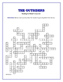 The Outsiders: 50-clue Reading-for-Detail Crossword—Fun Ob
