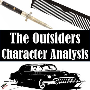 The Outsiders S.E. Hinton Character Analysis Activities