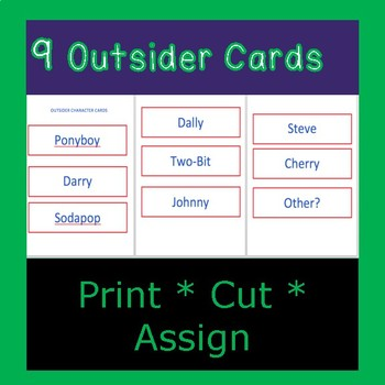 The Outsiders, SE HINTON:  Action Figure and Character Analysis