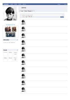 The Outsiders (S.E. Hinton) Facebook Character Pages