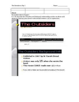 The Outsiders - SE Hinton- Novel Unit