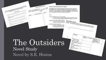 The Outsiders: Selected Activities for Before, During and After Reading