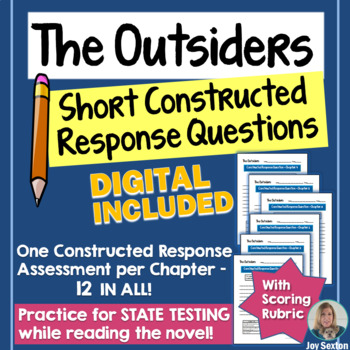 The OUTSIDERS - Short Constructed Response Questions - Common Core