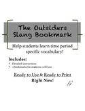 The Outsiders Slang Bookmark