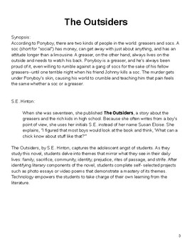 The Outsiders Student Packet