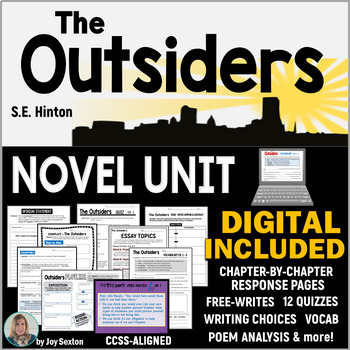 The Outsiders Novel Study Unit Common Core Aligned By Joy Sexton