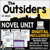 The OUTSIDERS Novel Study Unit - Common Core Aligned