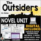 The OUTSIDERS Novel Study Unit - Print & DIGITAL Distance Learning