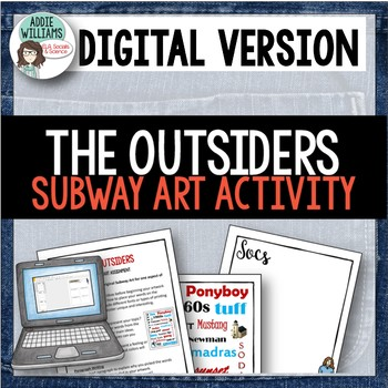 The Outsiders - Subway Art Project / Writing Prompt - Digital / Google Version