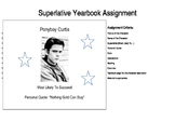 The Outsiders Superlative Yearbook Assignment