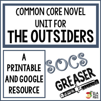 The Outsiders Novel Unit ~ Activities, Handouts, Tests!