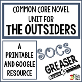 The Outsiders Novel Unit ~ Activities, Handouts, Tests! Printable & Google