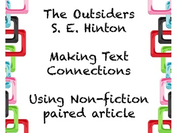 The Outsiders Making Connections