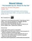 The Outsiders Tic-Tac-Toe Activities