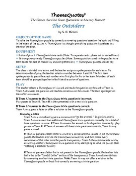 The Outsiders Trivia Game—Fun for the Whole Class!