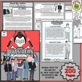 (Sale) The Outsiders Ultimate Novel Study (with Teacher's Powerpoint)
