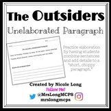 The Outsiders Unelaborated Paragraph Practice