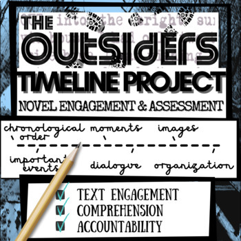 "The Outsiders Novel Study Activity: ""TIMELINE"" (For Reading Engagement)"