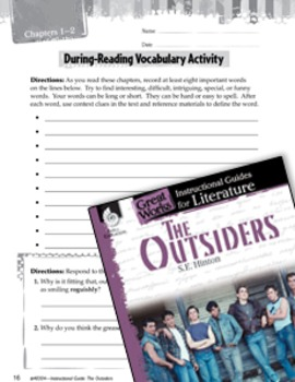 The Outsiders Vocabulary Activities
