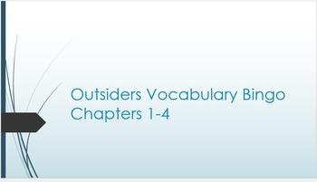 The Outsiders Vocabulary Bingo Set