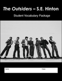 THE OUTSIDERS - Vocabulary List, Definitions, Student Worksheets, & Test