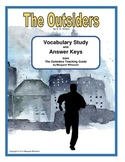 The Outsiders Vocabulary Study