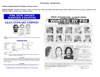 The Outsiders:  Wanted Poster