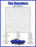 THE OUTSIDERS Novel Study Word Search Puzzle Worksheet Activity