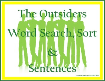 The Outsiders Word Search, Sort & Sentences