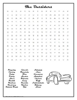 The Outsiders Wordsearch