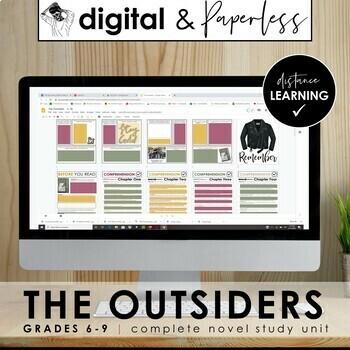 The Outsiders Workbook: Novel Unit