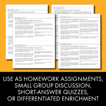 Outsiders, Worksheets Quizzes Homework & Discussion, S.E. Hinton's Novel, CCSS