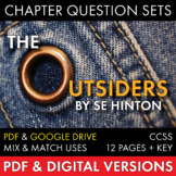 Outsiders Chapter Question Sets, S.E. Hinton's The Outside