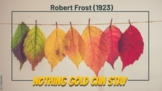 """The Outsiders and """"Nothing Gold Can Stay"""" by Robert Frost (Pear Deck Ready)"""