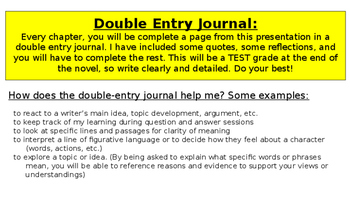 The Outsiders by S.E. Hilton Double Entry Journal