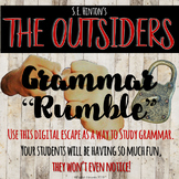 The Outsiders by S.E. Hinton - Digital Escape Room - Grammar Study - Novel Study