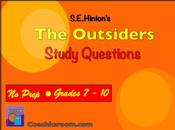 The Outsiders by S. E. Hinton Study Questions