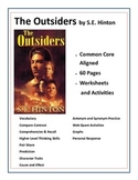 The Outsiders by SE Hinton 62 Common Core Aligned workshee