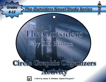 The Outsiders by S.E. Hinton Circle Graphic Organizer Activity