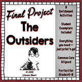 OUTSIDERS   S.E. Hinton   Outsiders Final Project   Outsiders Assessment