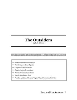 The Outsiders by S.E. Hinton Novel Guide