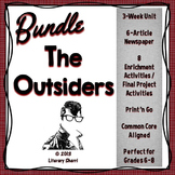 OUTSIDERS S.E. Hinton: Novel Unit, Final Project, Newspaper Project Bundle