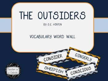 The Outsiders by S.E. Hinton - Vocabulary Word Wall