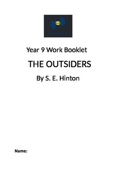 The Outsiders by S.E.Hinton Novel Study Booklet Year 8/9/10 Middle School