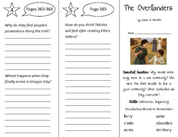The Overlanders Trifold - Open Court 3rd Grade Unit 3 Lesson 3