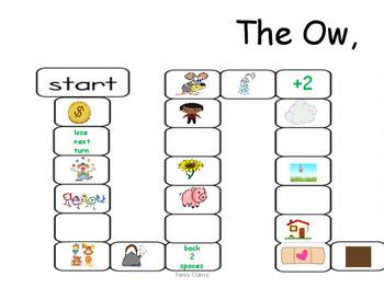 Vowel Diphthong Board Game
