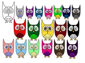 The Owl Clipart Collection